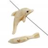 Bone Dolphin Worked On Bone Antique White